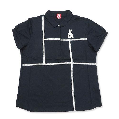 ARCHIVIO アルチビオ  半袖ポロシャツ レースライン ネイビー系 40