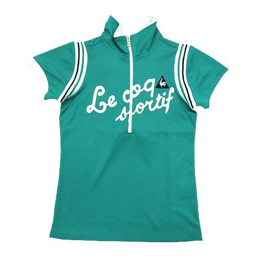 LECOQ GOLF ルコックゴルフ  半袖ハーフジップTシャツ  グリーン系 XS