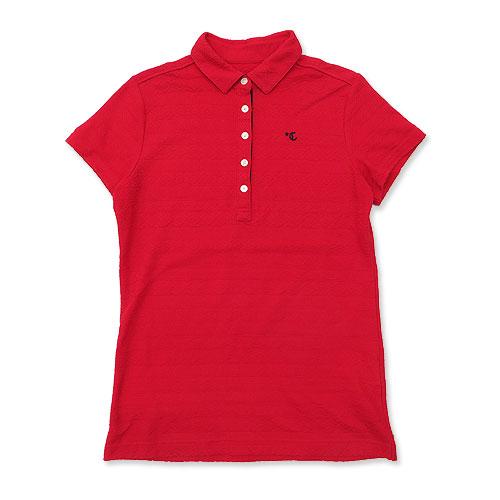 CALLAWAY SELECT キャロウェイ セレクト 2018年モデル 半袖ポロシャツ 総柄 レッド系 L