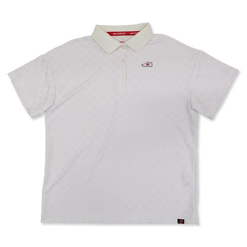 NEW BALANCE ニューバランス 2018年モデル 半袖ポロシャツ チェック ホワイト系 2