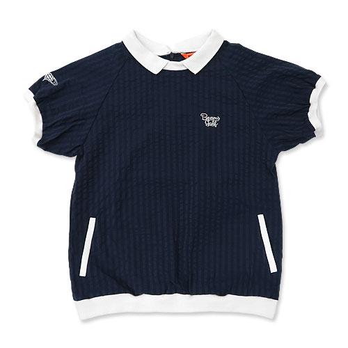 BEAMS GOLF ビームスゴルフ  半袖ポロシャツ プルオーバー  ネイビー系 M