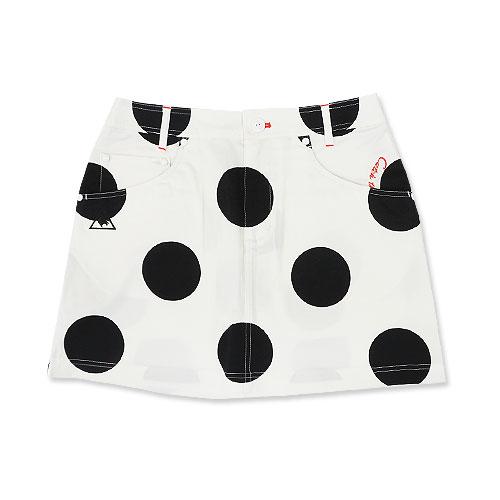 LE COQ GOLF ルコックゴルフ QGWNJE04 スカート ドット柄 ホワイト系 7