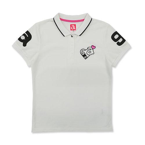 ARCHIVIO アルチビオ 半袖ポロシャツ ワッペン ホワイト系 38