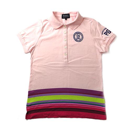 PEARLY GATES パーリーゲイツ 半袖ポロシャツ ピンク系 0