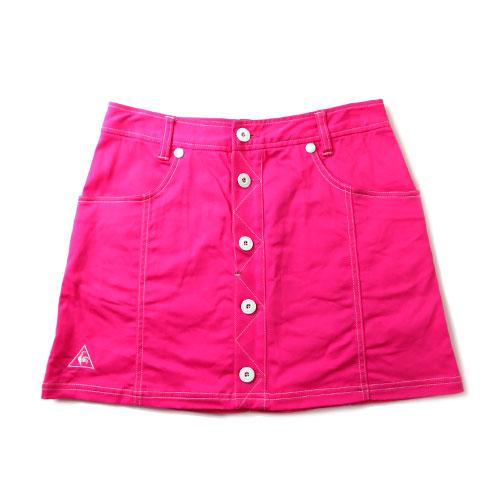 LE COQ GOLF ルコックゴルフ 台形ボタンスカート ピンク 9