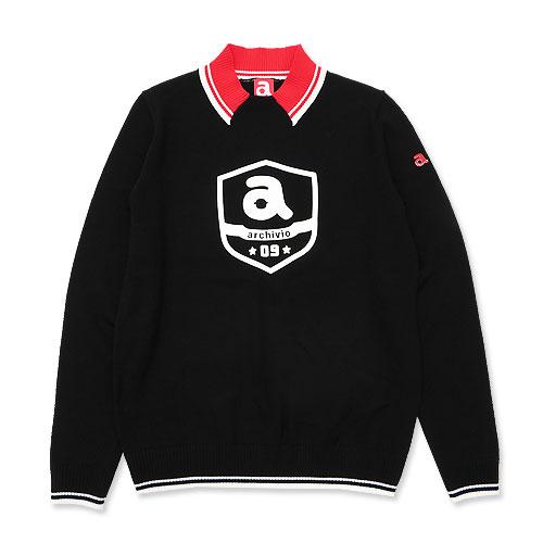 ARCHIVIO アルチビオ ウールニット セーター ブラック系 36
